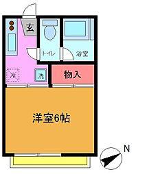 タカギワコーポ[2階]の間取り