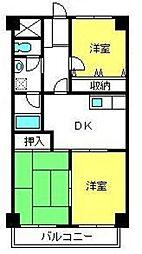 埼玉県さいたま市北区東大成町1丁目の賃貸マンションの間取り