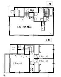 [一戸建] 神奈川県大和市中央林間3丁目 の賃貸【/】の間取り
