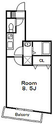 第15モリマンション[6階]の間取り