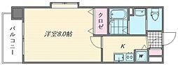 ピュアドーム箱崎アネックス[402号室]の間取り