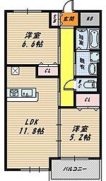 プレミアエムズ[3階]の間取り