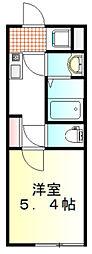 東武東上線 東武霞ヶ関駅 徒歩7分の賃貸アパート 1階1Kの間取り