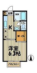 インプレス鎌倉III[102号室]の間取り