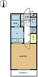 コンパートメントEクエスト 2階1SKの間取り