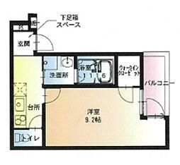 JR阪和線 堺市駅 徒歩8分の賃貸アパート 1階1Kの間取り