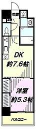 JR中央線 立川駅 徒歩4分の賃貸マンション 5階1DKの間取り