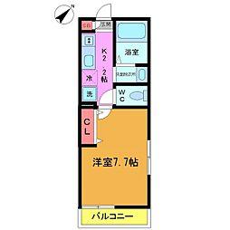 千葉県習志野市鷺沼2の賃貸アパートの間取り