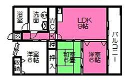 No.8山一ビル[205号室]の間取り