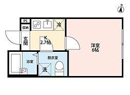 ルミナス浦和(ルミナスウラワ)[2階]の間取り