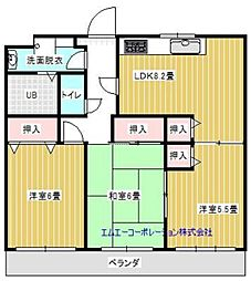 葉山マンションII[703号室]の間取り