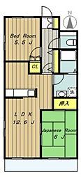 ビューヒルズ[2階]の間取り