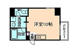 シーサ(旧アドマスタワー福島野田) 7階ワンルームの間取り