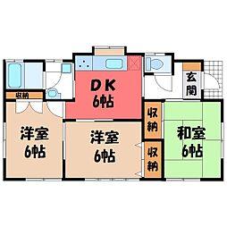 [一戸建] 栃木県宇都宮市緑5丁目 の賃貸【/】の間取り