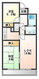 愛知県日進市藤塚6丁目の賃貸マンションの間取り