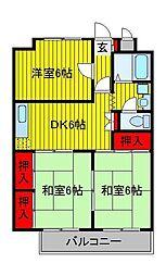 菊水マンション[4階]の間取り