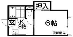 ハイツキャニオン[2階]の間取り