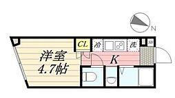 PASEO代田橋 4階1Kの間取り