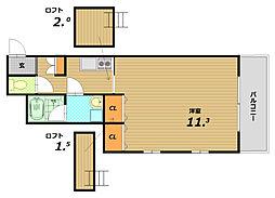 ワコーレヴィアーノ須磨寺町[2階]の間取り