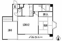 カーサファミリア[3階]の間取り