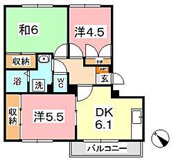 岡山県倉敷市新倉敷駅前2丁目の賃貸マンションの間取り