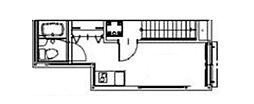 ソルナクレイシア浜田山 2階ワンルームの間取り