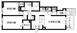 アクアブリーゼI棟・II棟[1階]の間取り