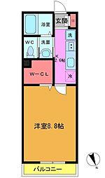東船橋3丁目共同住宅B棟[202号室]の間取り