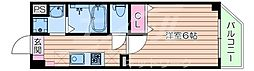 Osaka Metro谷町線 太子橋今市駅 徒歩1分の賃貸マンション 6階1Kの間取り
