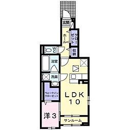 小田急江ノ島線 湘南台駅 バス6分 和泉橋下車 徒歩5分の賃貸アパート 1階1LDKの間取り