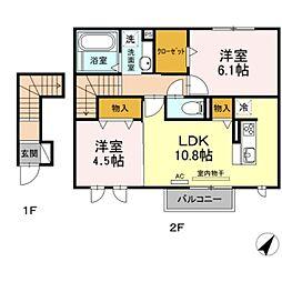 仮)D-room杉山[2階]の間取り