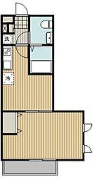 西武新宿線 武蔵関駅 徒歩2分の賃貸マンション 2階1DKの間取り