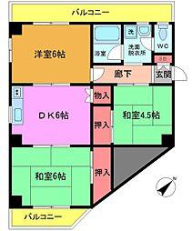 カーサ・ユミ[2階]の間取り
