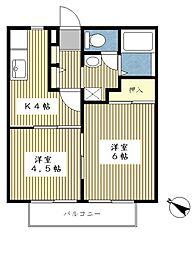 サンガーデン斉藤A棟[102号室]の間取り