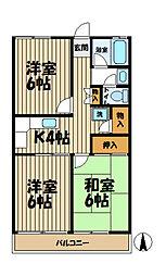 アーバンハイツ鎌倉植木[2階]の間取り