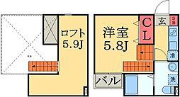 千葉県千葉市中央区蘇我町2丁目の賃貸アパートの間取り