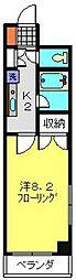 神奈川県横浜市港南区港南中央通の賃貸マンションの間取り