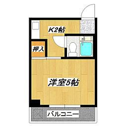 永和第10ビル[407号室]の間取り