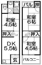[テラスハウス] 大阪府門真市四宮2丁目 の賃貸【/】の間取り