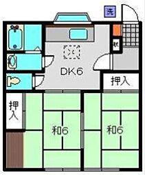 メゾン田中[1階]の間取り