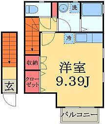 千葉県千葉市中央区南町3丁目の賃貸アパートの間取り