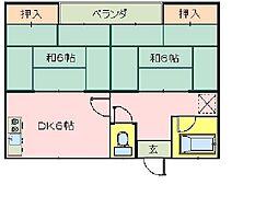 第2東寿荘[202号室]の間取り