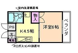 プレジール桜塚[1階]の間取り