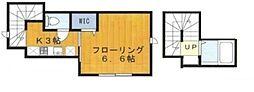 ラロッシュ北新宿 3階1Kの間取り