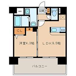 三島マンション博多駅東[701号室]の間取り
