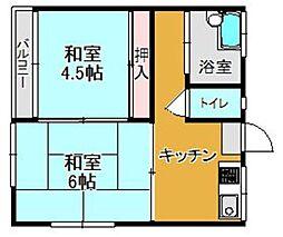 ヤナセ荘[5号室]の間取り
