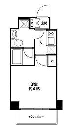 リベルテ登戸[4階]の間取り