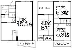 [一戸建] 大阪府枚方市須山町 の賃貸【/】の間取り
