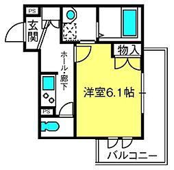 氷川参道メゾンテラーダII[203号室]の間取り