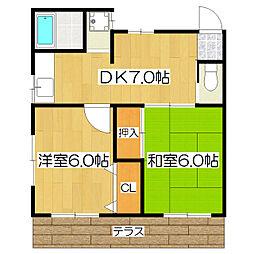 桜コーポ[1階]の間取り